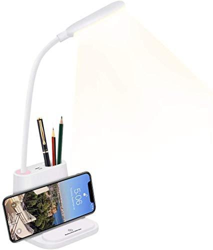 Lampada da scrivania a LED Lampade da lavoro dimmerabile Lampada da lettura Touch Control, braccio flessibile a 360°, 3 livelli di luminosità lampada da Tavolo con protezione degli occhi