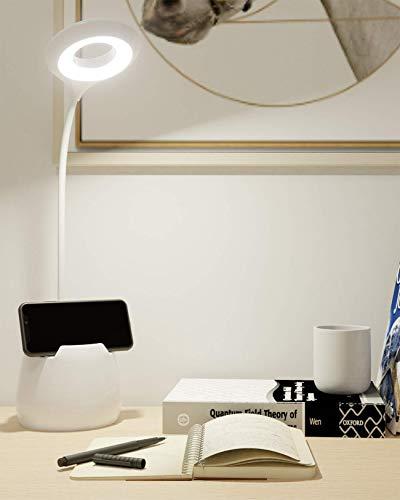 Lampada da Scrivania LED, Lampada da Tavolo 16LED Lampada da Lettura Tocca Sensibile Controllo 3 Modalità di Illuminazione per Lettori di Notte, E-Reader, Bambino, Studio, Porta di Ricarica USB