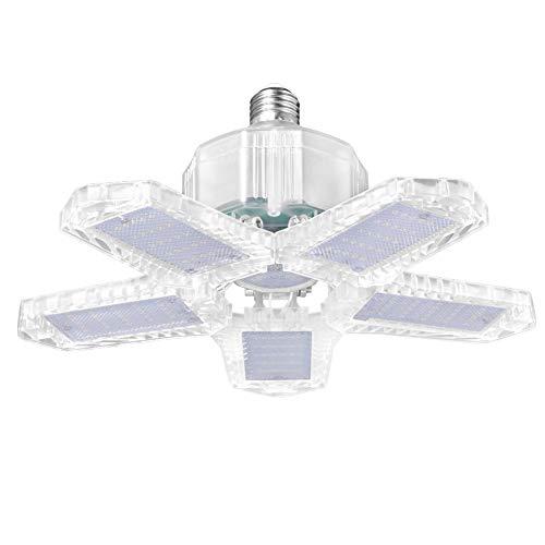 Lampada da soffitto a LED da 100 W, 10000 lumen, regolabile, per garage, cantina, corridoio, officina