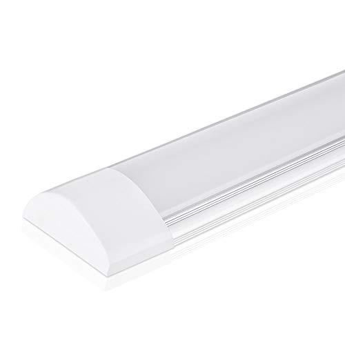 Lampada da soffitto a LED da 40W a luce 120CM, con 4800LM in bianco neutro 4000K Luce a stecca, angolo a fascio 130 ° plafoniera per bagno soggiorno cucina garage magazzino officina di pingouGo
