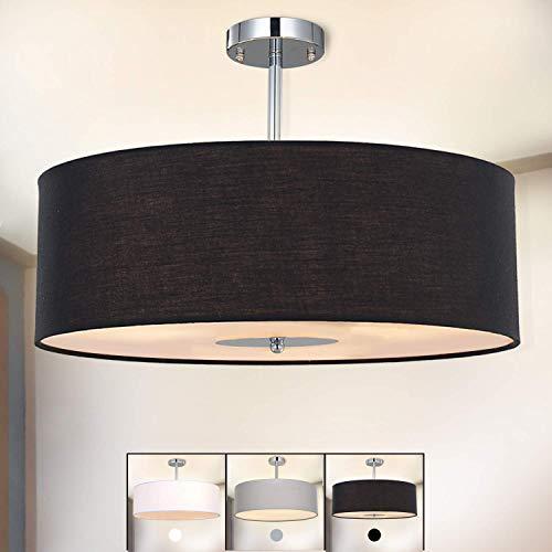 Lampada da soffitto Lampada Plafoniera, SPARKSOR Lampada a Sospensione in tessuto, 45 cm di diametro, lampada rotonda, 3 * E27, per Camera da letto, Sala da pranzo e Soggiorno