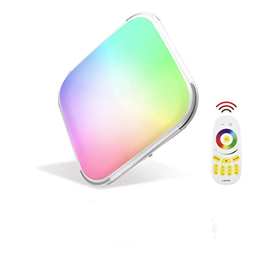 Lampada da soffitto LED Multicolore, Papasbox 48W Quadrata plafoniera led luce Dimmerabile RGB, Colore Della Luce (2700K-6500K) Pannello per soggiorno Sala da pranzo Camera da letto