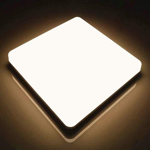 Lampada da Soffitto LED Quadrata Kier 48W, Plafoniera LED Moderno IP44 Impermeabile Bianco Caldo 3000K, Plafoniera Luce Quadrata 4320LM per Bagno Cucina Sala Soggiorno Corridoio Ufficio