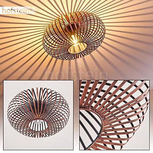Lampada da soffitto Oravi in metallo di colore rame - Plafoniera originale con effetti luci ed ombre al soffitto - Illuminazione per salotto - camera da letto - Ingresso - Cucina - Attacco 1 x E27