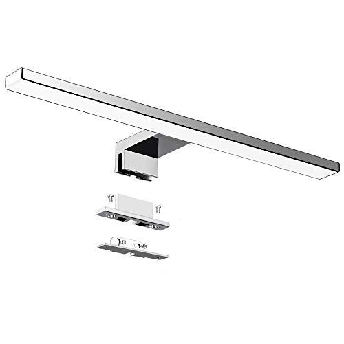 Lampada da specchio a LED 10W 40cm 820LM Lampada da bagno Azhien, Bianco Freddo Lampada da parete a LED 6000K LED IP44 Lampada da bagno a specchio 230V acciaio inox 40cm