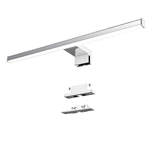 Lampada da specchio a LED 10W 60cm 820LM Lampada da bagno Azhien, Neutral White Lampada da parete a LED 4000K LED IP44 Lampada da bagno a specchio 230V acciaio inox 60cm