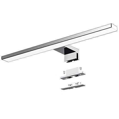 Lampada da specchio a LED 10W 820LM Lampada da bagno Azhien, Bianco Neutro Lampada da parete a LED 4000K LED IP44 Lampada da bagno a specchio 230V acciaio inox 40cm