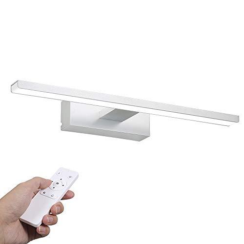 Lampada da Specchio a LED, Infankey dimmerabile Luce Specchio Bagno con telecomando, 12W 1000LM 6000K 220V, Bianco Neutro, IP44 Impermeabile per Specchio / Mobile / Parete