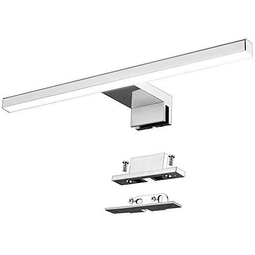 Lampada da Specchio a LED per Bagno 5W 30cm 400LM Azhien,Bianco Neutra 4000K Lampada Armadio Applique da Parete IP44 Lampada Specchio Bagno 230V Acciaio Inossidabile 300x14x14mm