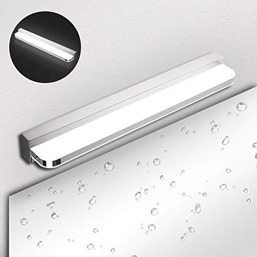 Lampada da Specchio LED Bagno Ketom 9W Lampada da Bagno IP44 600LM Luce da Specchio a LED Bianco Neutro 4000K LED Lampada da Specchio, Acciaio inossidabile Applique da bagno LED Non-dimmerabile, 42CM