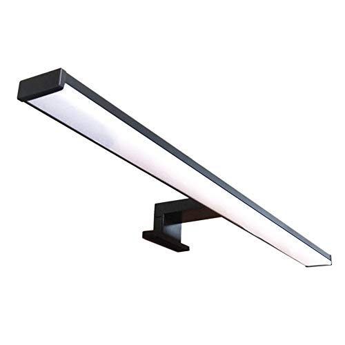 Lampada da Specchio LED per Bagno VEGA – 60 CM, 12W, 960LM, 220V, 4000K, NERO SATINATO ALLUMINIO, IP44 Classe II, non dimmerabile, Installazione a specchio o telaio, applique, Luce Calda