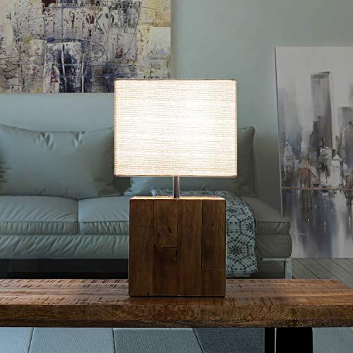 Lampada da tavolo di design LAMPHUN, paralume in tessuto realizzato a mano, pezzo unico per soggiorno, camera da letto, lampada da tavolo