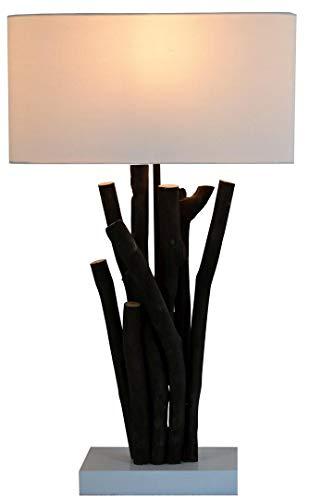 Lampada da tavolo di design SADAO, paralume in tessuto decorativo fatto a mano, pezzo unico per soggiorno, camera da letto, lampada da tavolo