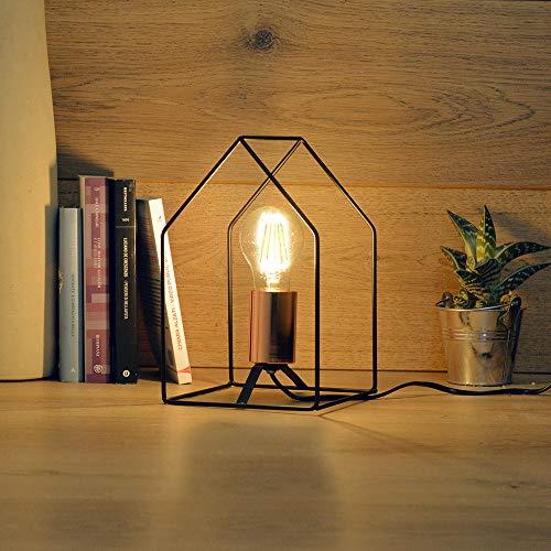 Lampada da tavolo di design stile industrial, minimalista, moderna ed elegante attacco lampada E27 (non inclusa)