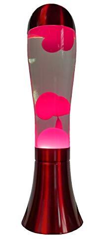 Lampada da tavolo in lava UKA (rosso/trasparente)