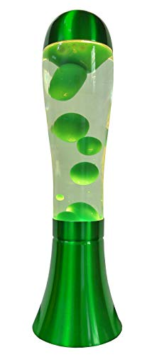 Lampada da tavolo in lava UKA (verde/trasparente)