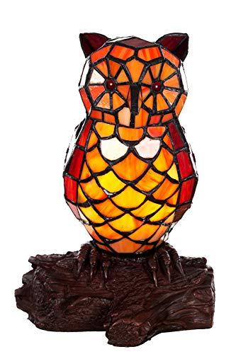 Lampada da tavolo in stile Tiffany a forma di gatto, pesce, cavallo e farfalla, in stile Tiffany
