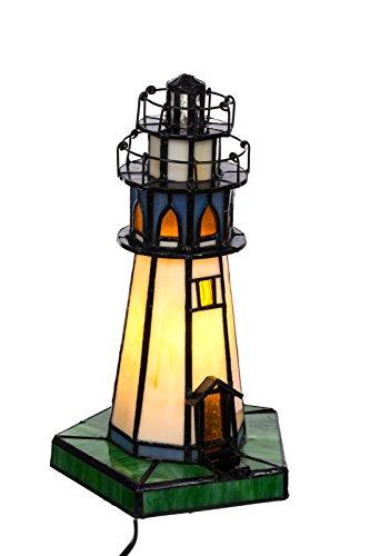 Lampada da tavolo in stile Tiffany faro, Tiff 130, motivo: lampada da tavolo lampada, lampada della decorazione, Tiffany Style