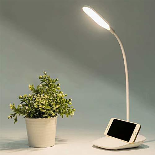 Lampada da Tavolo Ricaricabile a LED Dimmerabile, Lampada da Lettura Protezione degli Occhi, Lampada da Scrivania a LED Touch Sensitive, Lampada Libro 3 Livelli di Luminosità con 360° Girevole