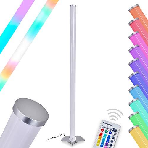 Lampada da terra Laugar LED multicolore con telecomando - Grazie al telecomando è possibile dimmerare la luce e controllare a proprio piacimento la luce bianca e i LED di colore RGB