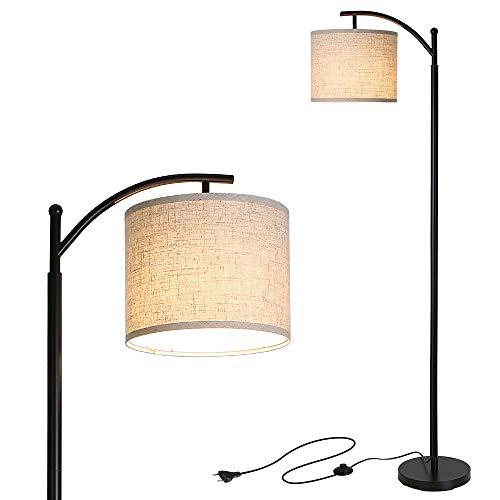 Lampada da Terra,Tomshine Lampada da Terra Moderna con una 9W lampadina LED, Adottando il Paralume in Lino e la Base in Arte del ferro,Può Essere Utilizzato in Camera da Letto, in Soggiorno
