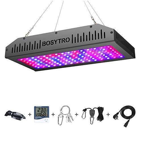 Lampada di Coltivazione LED 1200W Doppio Interruttore Luce per piante Spettro Completo per Indoor Piante Giardino per Verdure e Fiori, con Termometro Monitor Umidità Corda di sollevamento regolabile