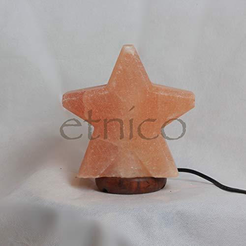 lampada di sale a stella misura 15x12x7 cm circa sale rosa del Himalaya luna