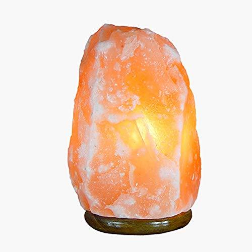 LAMPADA DI SALE HIMALAYANO Completamente Naturale e Realizzata a Mano con Base in Legno… (1/2 kg)