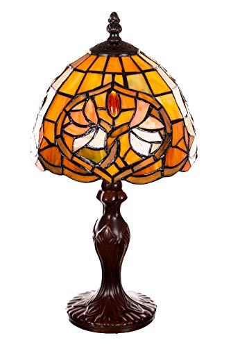 Lampada in stile Tiffany da 8 pollici con libellula, elegante, decorazione rosa, stile Tiffany