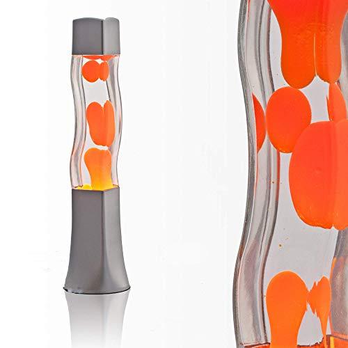 Lampada Lava 41 cm Arancione E14 25W con interruttore a cavo Idea regalo