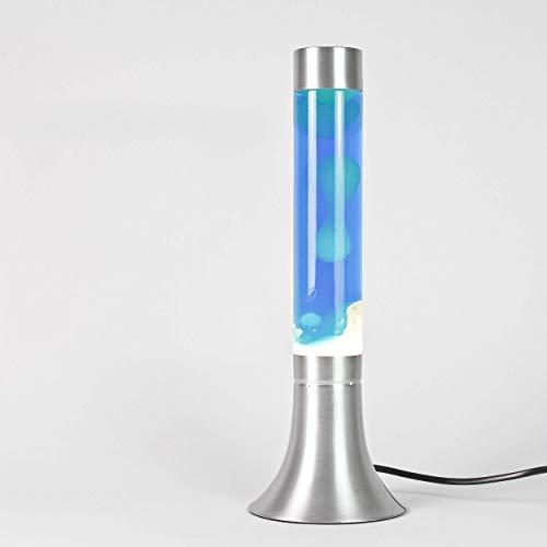"""Lampada lava classica""""Yvonne"""" blu bianco / 38 cm altezza/con Cavo interruttore/inclusa lampadina/per un paio fantastica Ore"""