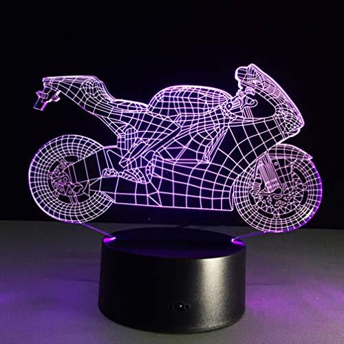 Lampada LED 3D Lampada LED per moto modello 3D Mood Light Atmosfera come decorazione camera da letto