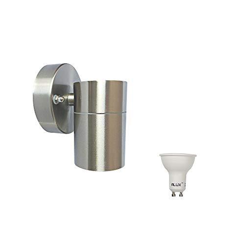Lampada LED da parete per esterni Spot Down, In acciaio inox