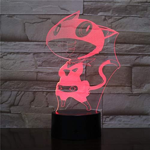 Lampada LED Morgana Persona 5 cambia colore USB luce notturna