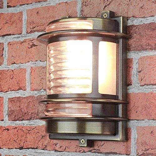 Lampada marittima ottone per esterno applique solida per balcone della casa in acciaio inox IP64
