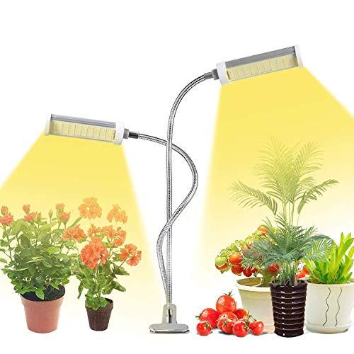 Lampada per Piante, KagoLing Upgrade Grow Light Full Spectrum Coltivazione Indoor Lampada Piante 100 LED con Timer Automatico 3H/6H/12H per Semina, Crescita, Fioritura e Fruttificazione