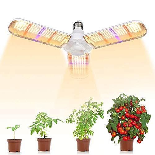 Lampada Piante Coltivazione, E27 150W Settore Lampada per Piante, 180° illuminazione 414 LEDs Grow Light per Piante da Interno [Classe di efficienza energetica A]