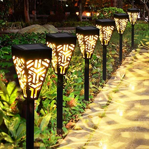 Lampada Solare Giardino Esterno Golwof 6 Pezzi Luci Solari Esterno Luce Solare Giardino LED Impermeabile Decorative Illuminazione Solare per Cortile Terrazzo Villa Vialetti Natale