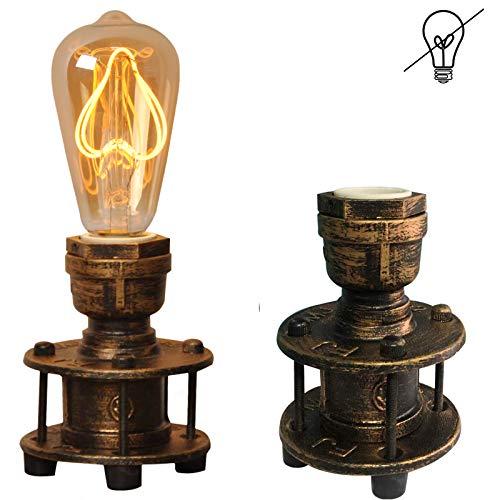 Lampada Vintage da Tavolo Industriale Retro Ferro Studio Scrivania Steampunk Cameretta Elegante e Comodino e27 Luce da Lettura