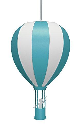 Lampadario a sospensione, per cameretta, mongolfiera turchese, turquoise