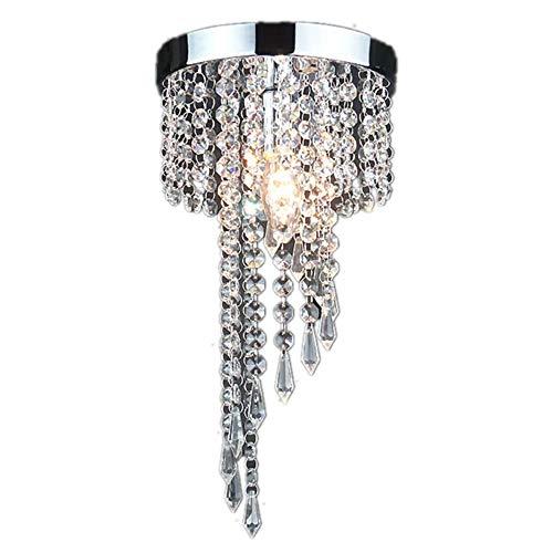 Lampadario di Cristallo,Lampada da Soffitto Cristallo K9,per Camera da Letto, Sala, Soggiorno, Corridoio E14 (Altezza 30CM, Diametro 20CM)