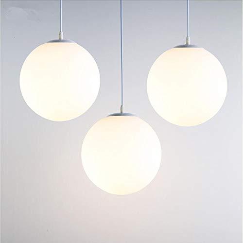 Lampadario sospensione moderno con sfera di vetro, Lampada a sospensione, LED E27 lampada da soffitto interna per Camera da letto, Soggiorno, Corridoio, Ristorante, Bar, singola 1pcs (25CM)