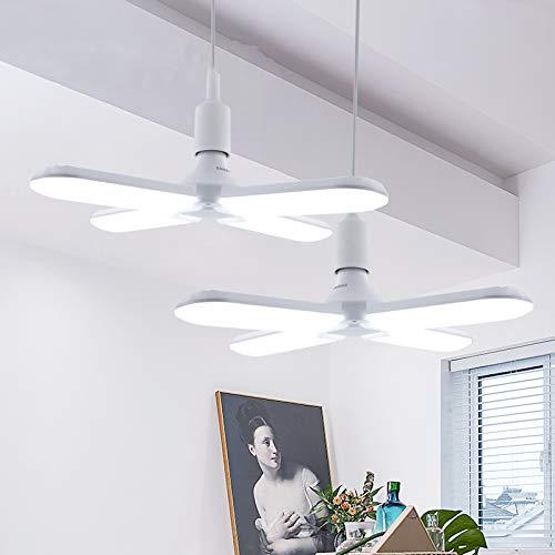 Lampade a sospensione a LED, tubi a ventaglio pieghevoli 60W E27 Super luminoso 6500K ad angolo regolabile Lampada a LED