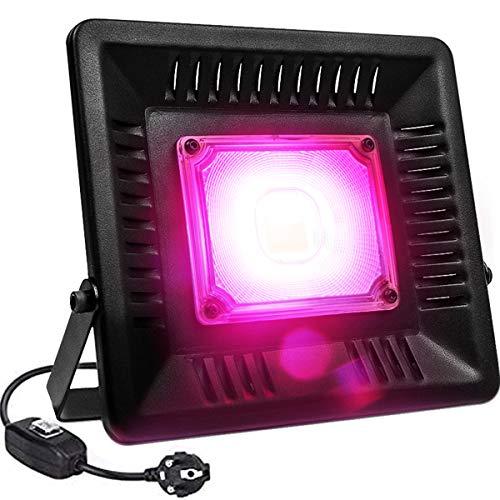 Lampade per Piante 50W Impermeabile IP67 Luci Piante COB LED Lampada di Crescita per Piantes da Interno ed Esterno ed Giardinaggio Idroponico