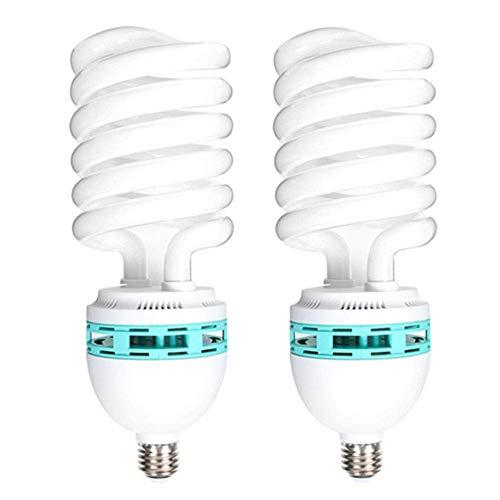 Lampadina a spirale compatta fluorescente a risparmio energetico, 2 x 125 W 220 V 5400 K CFL, luce diurna E27 per illuminazione di studio fotografico