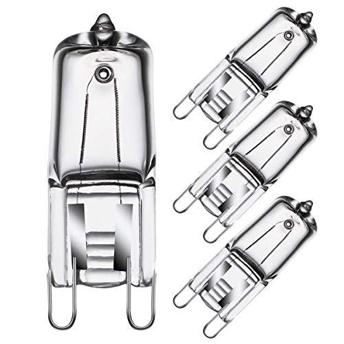 Lampadina Alogene del Forno G9 40W 230V per Applicazioni in Forno e Forno a Microonde Lampadine Resistenti al Calore da 300°C 4 Pezzi