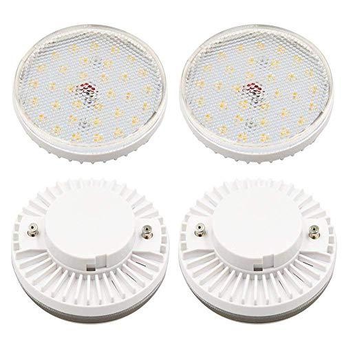Lampadina LED GX53 da 7 W, colore bianco CFL GX53 a incandescenza, 700 lumen, a risparmio energetico, base GX53, stile disco rotondo LED GX53 sotto le lampadine (bianco freddo 6000 K)