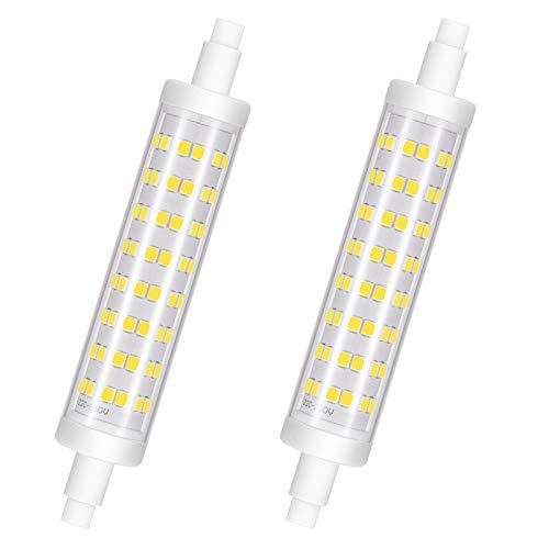 Lampadina LED R7S 118mm Dimmerabile, 10W, Bianco Freddo 6000K, Lampadina LED R7S , Equivalente a Lampadine Alogene da 100W, 960LM, AC 220V - 240 V, CRI> 85, Senza Sfarfallio, Confezione da 2, Viaus