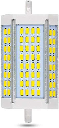 Lampadine R7S 118mm LED Dimmerabile 30W, 3000LM, Bianco Calda 3000K a Luce 200°, R7S LED 30W Sostituire Alogena R7S 118mm 200W 300W, J118 R7S Dimmerabile LED per Lampada da Terra/Plafoniera/Proiezione