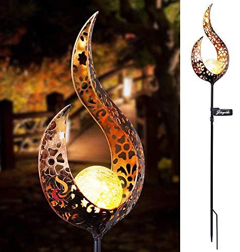 Lanterna Solare da Giardino Jiayida Cavità di LED Lampada da Esterno Outdoor Lamp Solare LED Lanterna Solare Luci Solari Esterno Decorative Luce Impermeabile IP65 per Natale, Halloween (Luci2)